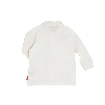 (メール便可)【ミキハウス】 長袖ポロシャツ (100cm 110cm)(MK11-5501-610)[MIKIHOUSEの子供服][男の子 女の子](白)[日本製]
