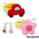 (メール便可)【MIKIHOUSE】[ミキハウス] 赤い車とお花のリストラトル(手首用) (46-1251-786)[MIKIHOUSEのおもちゃ] [ラトル] (男の子 女の子)