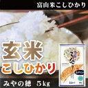 スーパーでは売っていない富山が誇る極上米!富山米こしひかり みやの穂 5kg 【減農薬】【玄米】スーパーでは買えない極上米!ランクA