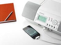 【送料無料】KENWOODiPod/iPhone対応パーソナルステレオシステムCLX-30-W■CD/SD/USBパーソナルオーディオシステム■USBメモリーやSDカードにカンタン録音■CDやラジオをパソコンなしで手軽に録音■USB端子とSDカードスロットを搭載【オススメ】