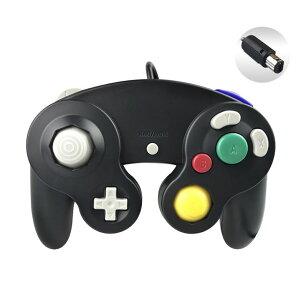 ゲームパッド ゲームキューブと同じボタン配置 マルチコントローラー GAMECUBE 互換品 Wii WiiU対応 黒 ブラック tecc-ninpad