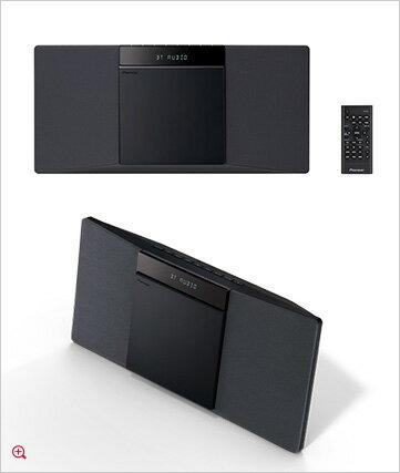 Pioneer X-SMC02-B ブラック ミニコンポ パイオニア CDミニコンポーネントシステム Bluetooth機能搭載の一体型CDミニコンポ