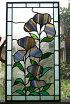 ステンドグラス鉛線方式建物組み入れパネル・夢の花(A)