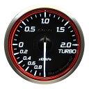 Defi(デフィ) Racer GaugeN2 φ60 ターボ計2.0 レッドモデル ...