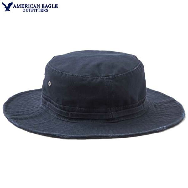 アメリカンイーグルハットレディースハット帽子上質コットンツイルバケツハットワイドプリム(ツバ)ダメージ加工ブランド小物紫外線対策