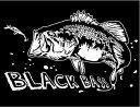 【ブラックバス】防水 ステッカー迫力の 魚 ステッカー (転写タイプ)H170 × W280