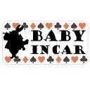 baby in car マグネット ステッカー 不思議の国のアリス 赤ちゃんが乗っています シール カッティングス...