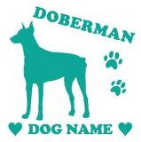 ドーベルマン 【スクエア型】 ペット ステッカー DOGステッカー ドッグシルエット切り抜きシール 犬 ステッカー ネーム 入り 犬 犬ステッカー 犬 車 ステッカー 転写 ステッカー 愛犬 プレゼント