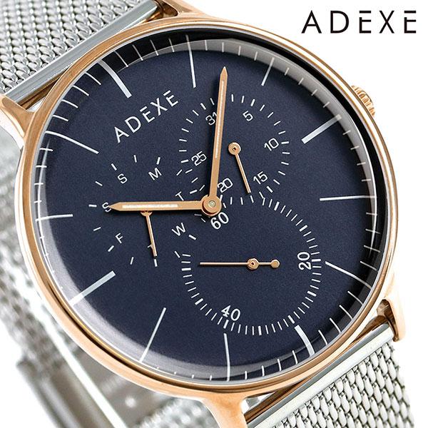 アデクス ADEXE ユニセックス マルチファンクション 41mm 1868A-10 腕時計 グランデ 時計【あす楽対応】