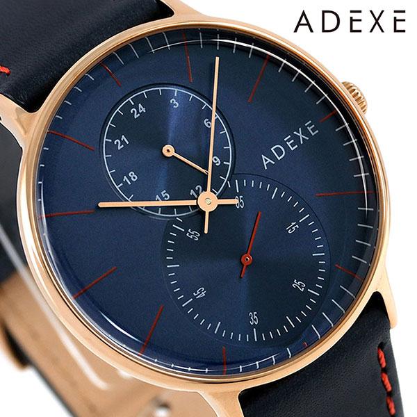 アデクス ADEXE ユニセックス スモールセコンド 41mm 1868C-02 腕時計 グランデ 時計