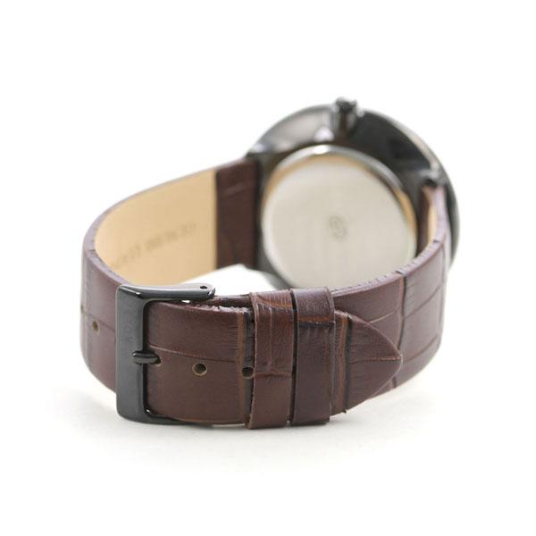 アデクス 時計 メンズ レディース 腕時計 1886A-05 ADEXE グランデ 40mm ブラック×ダークブラウン【あす楽対応】