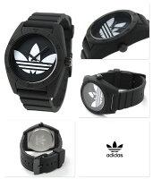 アディダス腕時計オリジナルスサンティアゴオールブラックラバーベルトadidasADH6167