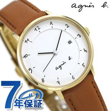 【今なら店内ポイント最大51倍】 アニエスベー 時計 レディース FBSK944 agnes b. マルチェロ ホワイト×ライトブラウン 革ベルト【あす楽対応】