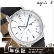 アニエスベー べーシック クロノグラフ メンズ 腕時計 FCRT974 agnes b. ホワイト×ブラック