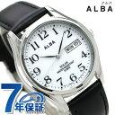 【1月下旬頃入荷予定 予約受付中♪】セイコー アルバ ソーラー メンズ 腕時計 AEFD543 SEIKO ALBA デイデイト ホワイト×ブラック