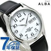 【4月下旬入荷予定 予約受付中♪】セイコー アルバ ソーラー メンズ 腕時計 AEFD543 SEIKO ALBA デイデイト ホワイト×ブラック【あす楽対応】