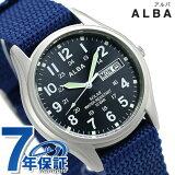 セイコー アルバ ソーラー デイデイト メンズ 腕時計 AEFD556 SEIKO ALBA ネイビー 時計