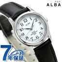セイコー アルバ ソーラー レディース AEGD543 SEIKO ALBA ホワイト×ブラック 腕時計 時計