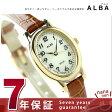 セイコー アルバ ソーラー オーバル レディース 腕時計 AEGD548 SEIKO ALBA クリーム×ブラウン