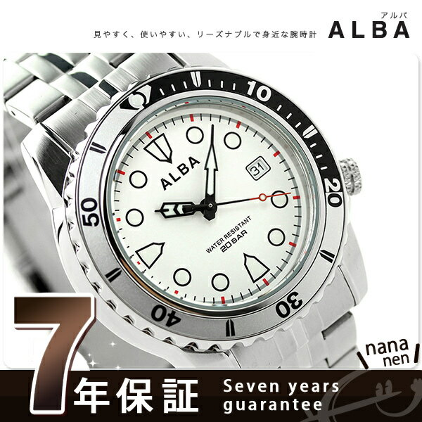 セイコー アルバ クオーツ スポーツ メンズ 腕時計 AQGJ402 SEIKO ALBA ホワイト 時計