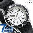 セイコー アルバ スポーツ クオーツ 腕時計 AQQS001 SEIKO ALBA シルバー×ブラック