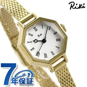 セイコー アルバ リキ レディース 腕時計 八角クロック メッシュベルト AKQK455 SEIKO ALBA Riki ホワイト×ゴールド 時計