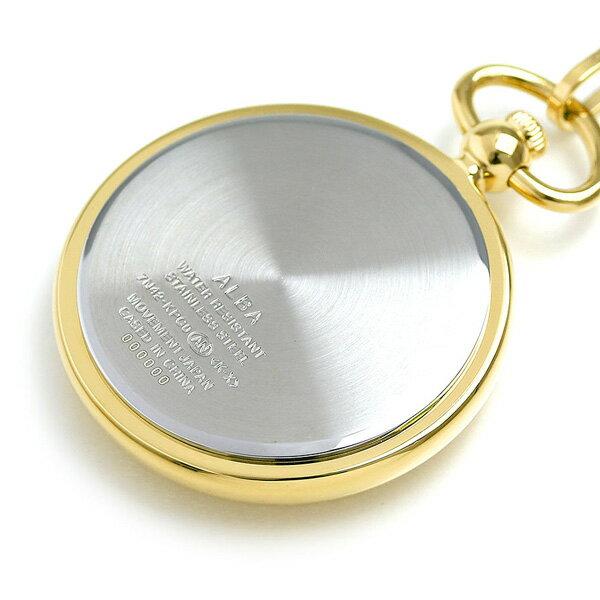 【当店なら!さらにポイント+4倍】 セイコー アルバ ポケットウォッチ 懐中時計 AQGK446 SEIKO ALBA ホワイト×ゴールド 時計【あす楽対応】