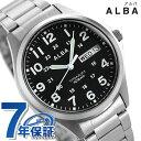 セイコー アルバ メンズ 腕時計 カレンダー チタン AQPJ402 SEIKO ALBA クオーツ ブラック 時計