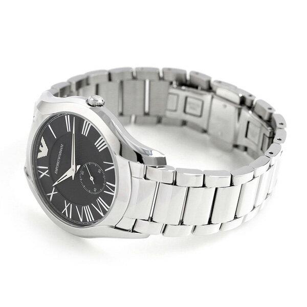 【店内ポイント最大43倍 26日1時59分まで】 アルマーニ 時計 メンズ バレンテ スモールセコンド AR11086 EMPORIO ARMANI エンポリオ アルマーニ 腕時計 ブラック【あす楽対応】