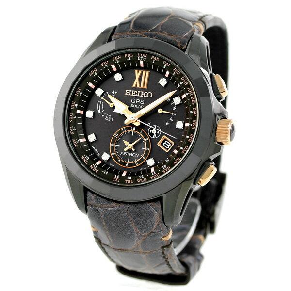 25日当店なら!ポイント最大35倍 【ノベルティ付き♪】セイコー アストロン SEIKO ASTRON SBXB083 限定モデル ダイヤモンド メンズ 腕時計 GPSソーラー ブラウン