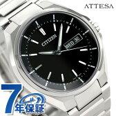 【7月下旬頃入荷予定 予約受付中♪】AT6050-54E シチズン アテッサ 電波ソーラー メンズ 腕時計 CITIZEN ATESSA ブラック