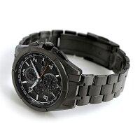AT8166-59E シチズン アテッサ ブラックチタン エコドライブ電波 CITIZEN 腕時計 オールブラック 時計【あす楽対応】