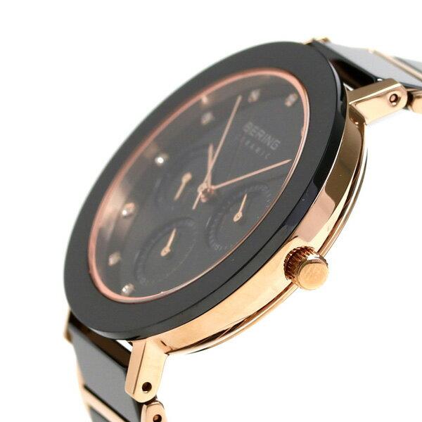 ベーリング リンク セラミック 38mm クオーツ レディース 11438-746 BERING 腕時計 ブラック 時計【あす楽対応】