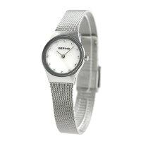 ベーリング カービング メッシュ 24mm クオーツ レディース 12924-000 BERING 腕時計 ホワイトシェル