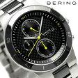 ベーリング リンク セラミック 40mm クオーツ メンズ 33341-749 BERING 腕時計 ブラック