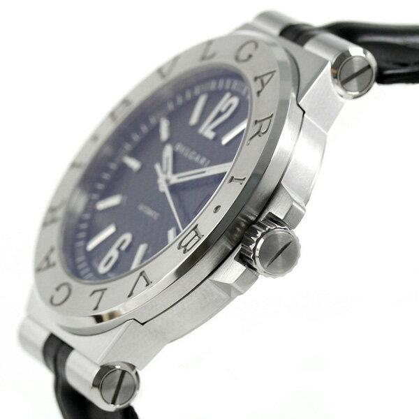 【25日は全品5倍でポイント最大22倍】ブルガリ時計メンズBVLGARIディアゴノ40mm自動巻き腕時計DG40BSLDブラック【あす楽対応】