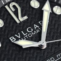 ブルガリ BVLGARI ディアゴノ 42mm 自動巻き 300m防水 DP42BSVDSDVTG 腕時計 ブラック