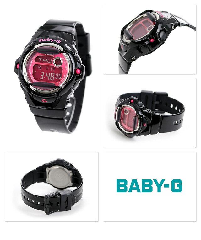 【7月下旬入荷予定 予約受付中♪】Baby-G レディース カシオ 腕時計 ベビーG カラーディスプレイシリーズ ブラック × ピンク BG-169R-1BDR 時計