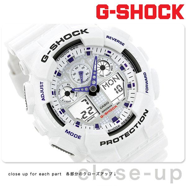 G-SHOCK CASIO GA-100A-7ADR 腕時計 カシオ Gショック Newコンビネーションモデル ホワイト × ミラー 時計【あす楽対応】