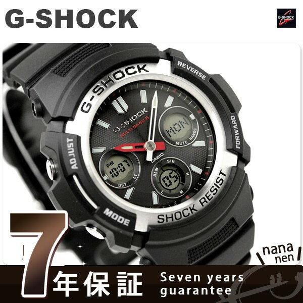 G-SHOCK 電波 ソーラー メンズ 腕時計 ブラック アナデジ AWG-M100-1A カシオ Gショック ジーショック 時計