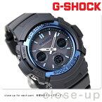 G-SHOCK 電波 ソーラー CASIO AWG-M100A-1AER アナデジ 腕時計 カシオ Gショック スタンダードモデル ブラック×ブルー