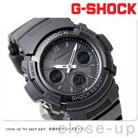 G-SHOCKG-ショック電波ソーラーアナデジオールブラックAWG-M100B-1ACR