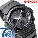 G-SHOCK ブラック 電波 ソーラー CASIO AWG-M100B-1ACR アナデジ 腕時計 カシオ Gショック オールブラック 時計【あす楽対応】