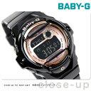 Baby-G レディース CASIO ピンクゴールドシリーズ デジタル ブラック × ピンクゴールド BG-169G-1DR 腕時計 時計