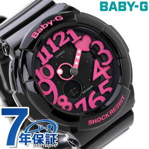 カシオ Baby-G 腕時計 ベビーG ネオンダイアルシリーズ ブラック×ピンク BGA-13…