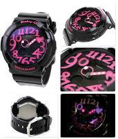 カシオBaby-G腕時計ベビーGネオンダイアルシリーズブラック×ピンクBGA-130-1BDR