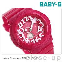 カシオBaby-G腕時計ベビーGネオンダイアルシリーズピンクBGA-130-4BDR