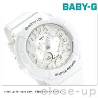 カシオBaby-G腕時計ベビーGネオンダイアルシリーズホワイトBGA-131-7BDR