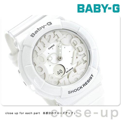 カシオ Baby-G 腕時計 ベビーG ネオンダイアルシリーズ ホワイト BGA-131-7BDR