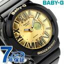 Baby-G レディース ベビーG カシオ 腕時計 ネオンダイアルシリーズ アナデジ ゴールド × ブラック CASIO BGA-160-1BDR 時計